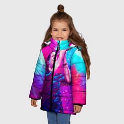 Куртка зимняя для девочки Chester Bennington: Colors цвета 3D-черный — фото 2