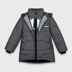 Куртка зимняя для девочки Костюм цвета 3D-черный — фото 1