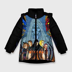 Куртка зимняя для девочки Dethklok: Heroes цвета 3D-черный — фото 1