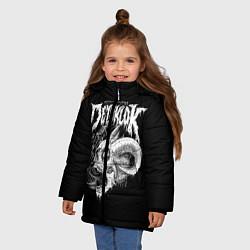 Куртка зимняя для девочки Dethklok: Goat Skull цвета 3D-черный — фото 2