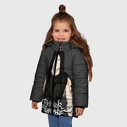 Куртка зимняя для девочки Dethklok Man цвета 3D-черный — фото 2