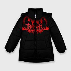 Детская зимняя куртка для девочки с принтом Dethklok, цвет: 3D-черный, артикул: 10134391306065 — фото 1
