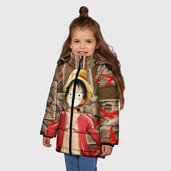 Куртка зимняя для девочки Ван-Пис цвета 3D-черный — фото 2