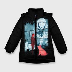 Куртка зимняя для девочки Black Mirror: Stories цвета 3D-черный — фото 1
