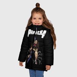 Куртка зимняя для девочки Pantera #13 цвета 3D-черный — фото 2