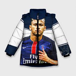 Куртка зимняя для девочки Neymar: Fly Emirates цвета 3D-черный — фото 1