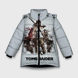 Куртка зимняя для девочки TOMB RAIDER цвета 3D-черный — фото 1