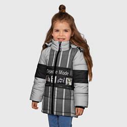 Куртка зимняя для девочки Группа Depeche Mode цвета 3D-черный — фото 2