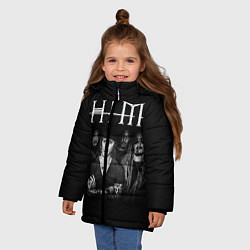 Куртка зимняя для девочки HIM Rock цвета 3D-черный — фото 2