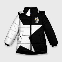 Куртка зимняя для девочки FC Juventus: Star цвета 3D-черный — фото 1