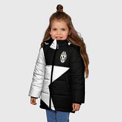 Куртка зимняя для девочки FC Juventus: Star цвета 3D-черный — фото 2