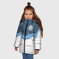 Куртка зимняя для девочки Manchester City FC: Sport цвета 3D-черный — фото 2