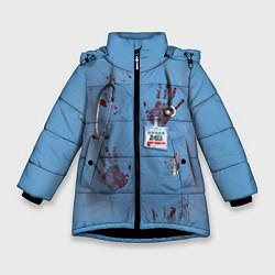 Куртка зимняя для девочки Костюм врача кровь цвета 3D-черный — фото 1