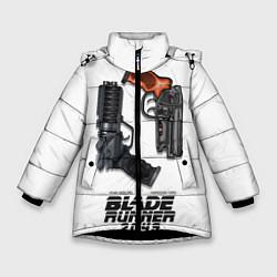 Куртка зимняя для девочки Blade Runner 2049: Weapon цвета 3D-черный — фото 1