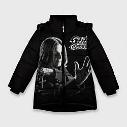 Детская зимняя куртка для девочки с принтом Оззи Осборн, цвет: 3D-черный, артикул: 10138075906065 — фото 1