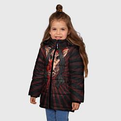 Куртка зимняя для девочки He is everyone цвета 3D-черный — фото 2