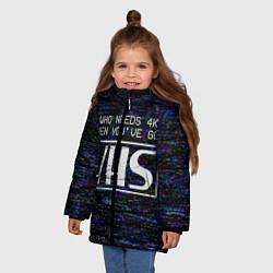 Куртка зимняя для девочки 4K VHS цвета 3D-черный — фото 2