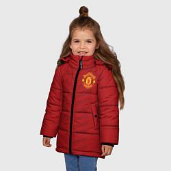 Куртка зимняя для девочки Manchester United: Red Lines цвета 3D-черный — фото 2