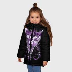 Куртка зимняя для девочки Deep Purple: Greatest Hits цвета 3D-черный — фото 2