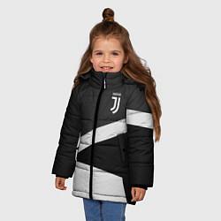 Куртка зимняя для девочки FC Juventus: Sport Geometry цвета 3D-черный — фото 2