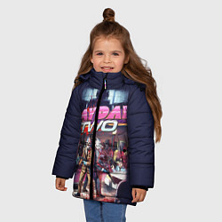 Куртка зимняя для девочки Payday Two цвета 3D-черный — фото 2