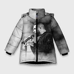 Куртка зимняя для девочки Jah Khalib: Black mist цвета 3D-черный — фото 1