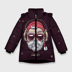 Куртка зимняя для девочки Who was a bad boy? цвета 3D-черный — фото 1