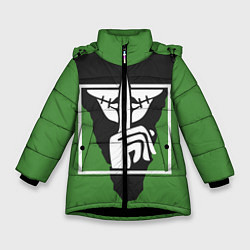 Куртка зимняя для девочки Rainbow Six Siege: Caveira цвета 3D-черный — фото 1