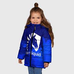 Детская зимняя куртка для девочки с принтом Team Liquid: Polygons, цвет: 3D-черный, артикул: 10143164106065 — фото 2