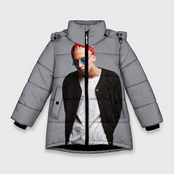 Детская зимняя куртка для девочки с принтом T-Fest, цвет: 3D-черный, артикул: 10144503706065 — фото 1