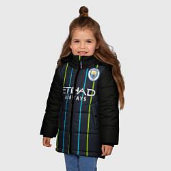 Куртка зимняя для девочки FC Manchester City: Away 18/19 цвета 3D-черный — фото 2