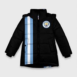 Куртка зимняя для девочки Манчестер Сити цвета 3D-черный — фото 1