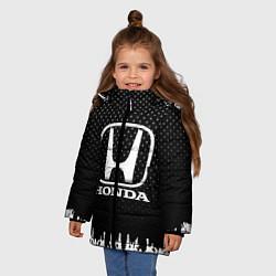 Куртка зимняя для девочки Honda: Black Side цвета 3D-черный — фото 2
