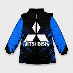 Куртка зимняя для девочки Mitsubishi: Blue Anger цвета 3D-черный — фото 1