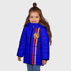 Куртка зимняя для девочки Армения цвета 3D-черный — фото 2