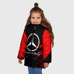 Куртка зимняя для девочки Mercedes-Benz: Red Anger цвета 3D-черный — фото 2