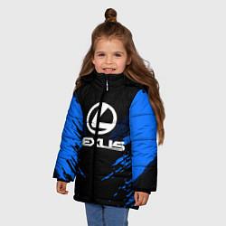 Куртка зимняя для девочки Lexus: Blue Anger цвета 3D-черный — фото 2