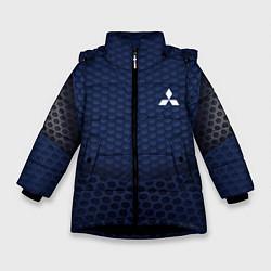 Куртка зимняя для девочки Mitsubishi: Sport Motors цвета 3D-черный — фото 1