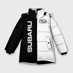 Куртка зимняя для девочки Subaru B&W цвета 3D-черный — фото 1