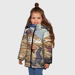 Куртка зимняя для девочки California Way цвета 3D-черный — фото 2
