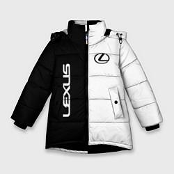Куртка зимняя для девочки Lexus: Black & White цвета 3D-черный — фото 1