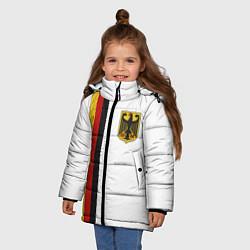 Куртка зимняя для девочки I Love Germany цвета 3D-черный — фото 2
