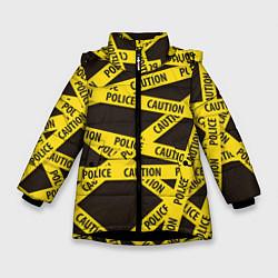 Куртка зимняя для девочки Police Caution цвета 3D-черный — фото 1