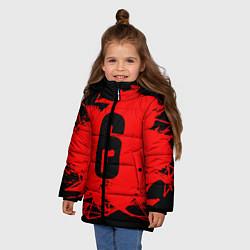 Куртка зимняя для девочки R6S: Red Outbreak цвета 3D-черный — фото 2