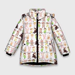 Детская зимняя куртка для девочки с принтом MONSTA X 10, цвет: 3D-черный, артикул: 10150080706065 — фото 1