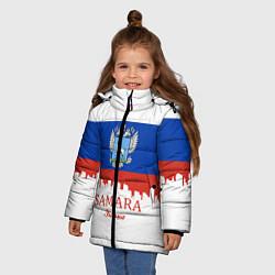 Куртка зимняя для девочки Samara: Russia цвета 3D-черный — фото 2