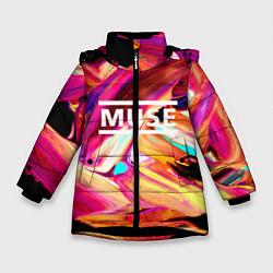 Куртка зимняя для девочки MUSE: Neon Colours - фото 1
