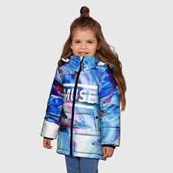 Куртка зимняя для девочки MUSE: Blue Colours цвета 3D-черный — фото 2