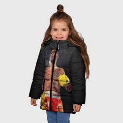 Куртка зимняя для девочки Vasyl Lomachenko цвета 3D-черный — фото 2