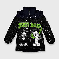 Куртка зимняя для девочки Smoky Mo & Kizaru цвета 3D-черный — фото 1